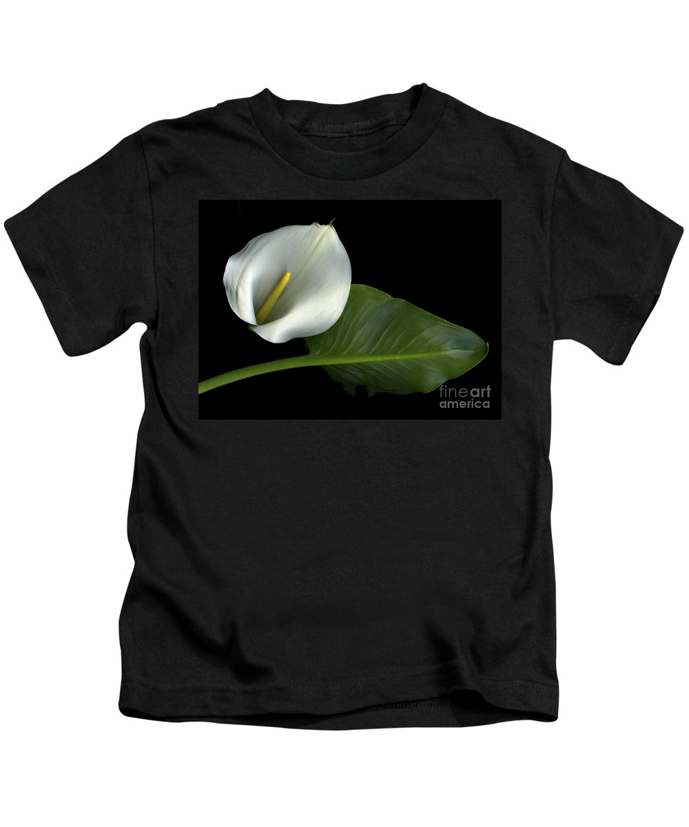 Scanography Kids T-Shirt featuring the photograph Calla Lily by Christian Slanec