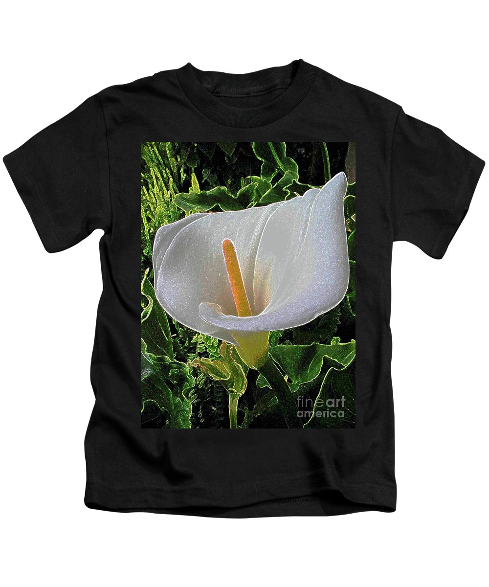 Calla Lily Kids T-Shirt featuring the painting You Light Up My Life by Hazel Holland