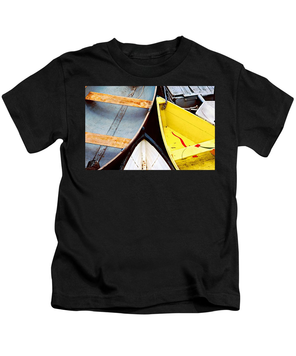 Dories Kids T-Shirt featuring the photograph Camden Dories Photo by Peter J Sucy