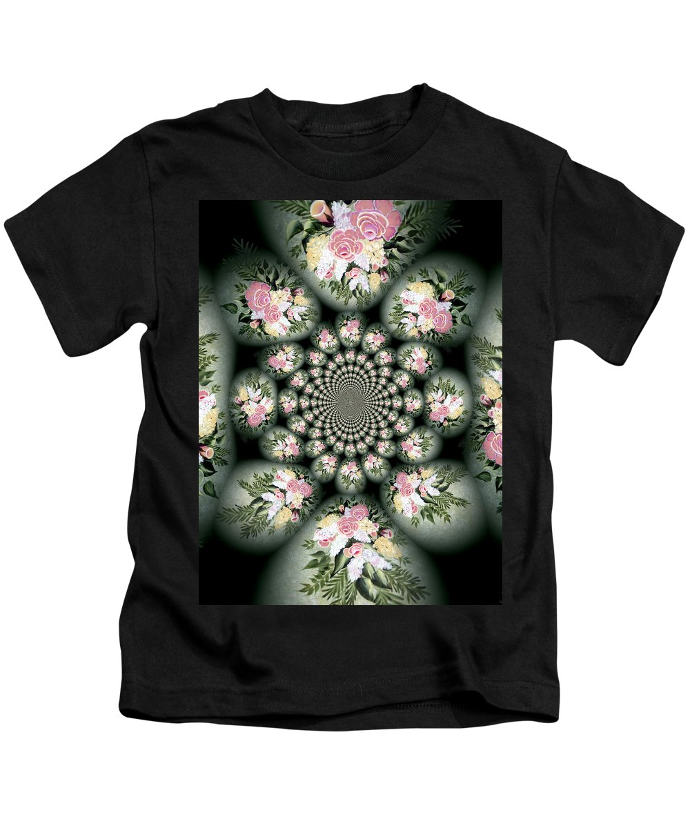 Cameo Bouquet Kids T-Shirt featuring the digital art Cameo Bouquet by Barbara Griffin