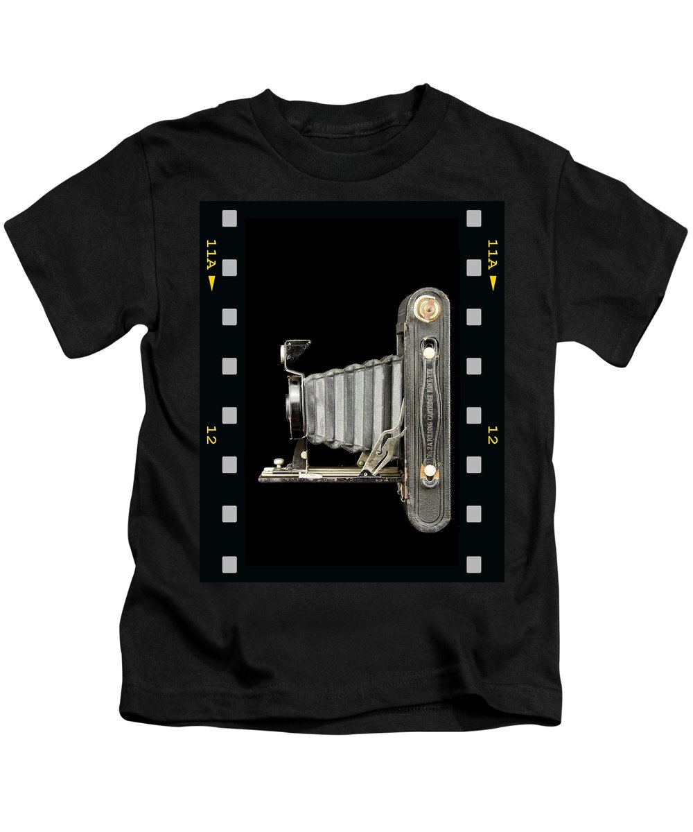 Camera Kids T-Shirt featuring the photograph Camera Close Up-5 by Rudy Umans