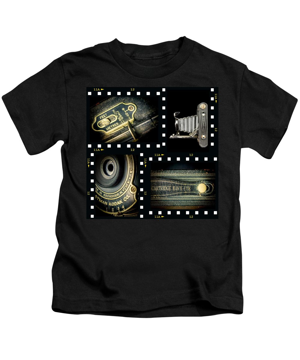 Camera Kids T-Shirt featuring the photograph Camera Collage-2 by Rudy Umans
