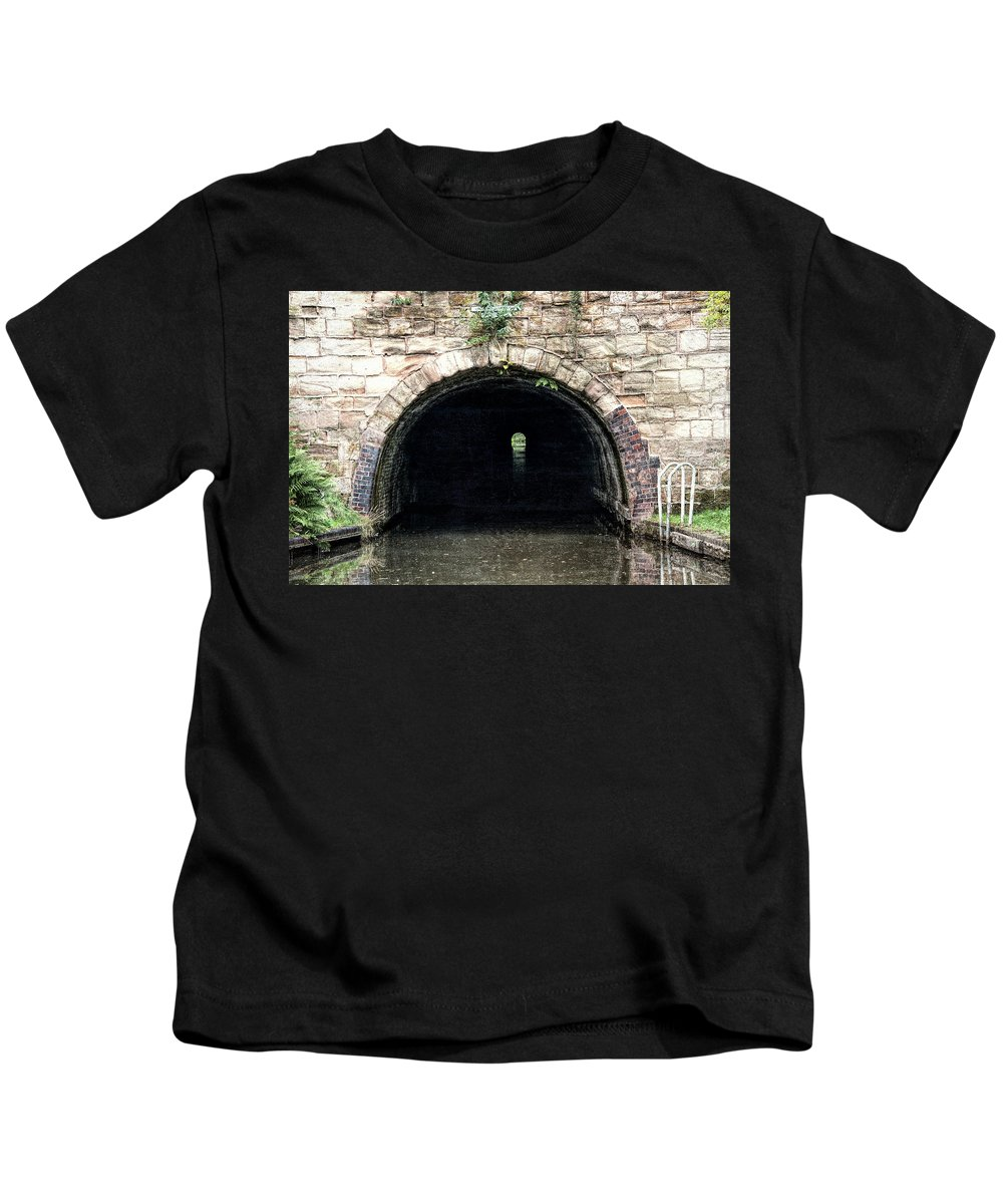 Birmingham Kids T-Shirt featuring the photograph Canal Tunnel 2 by Roy Pedersen