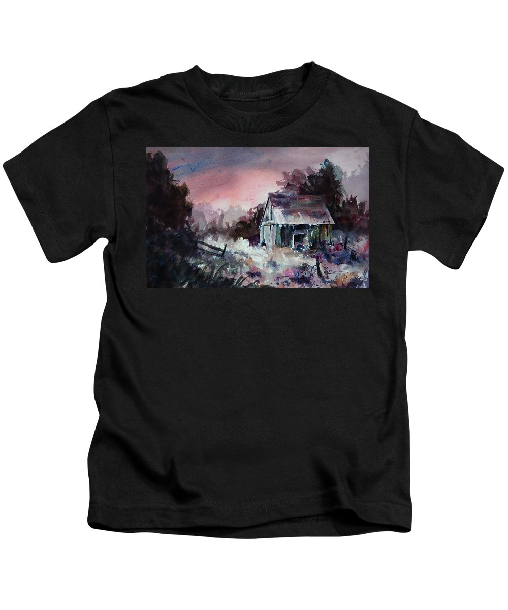 Shack Kids T-Shirt featuring the painting Candy Cane by Rachel Christine Nowicki