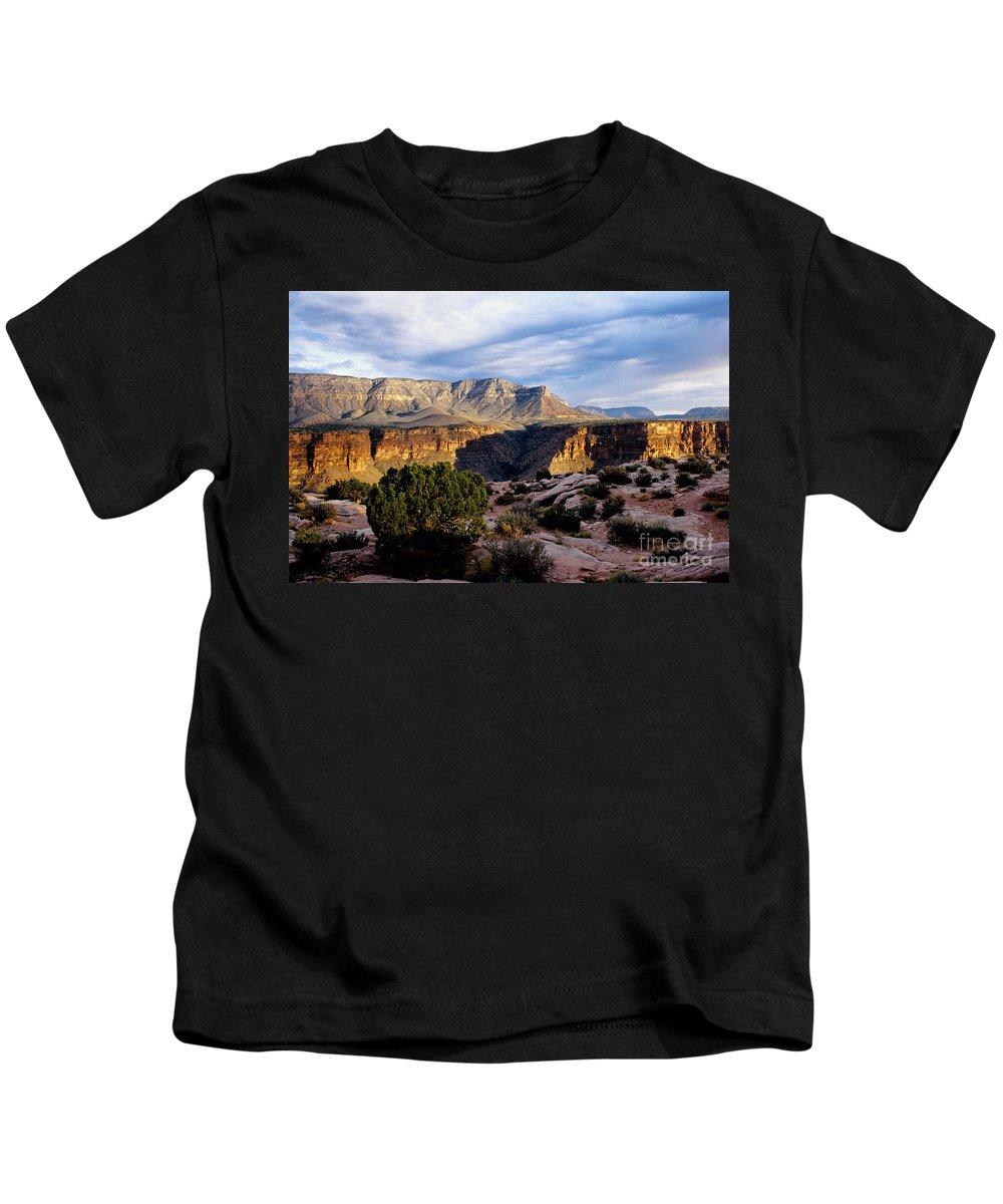 Toroweap Kids T-Shirt featuring the photograph Canyon Walls At Toroweap by Kathy McClure
