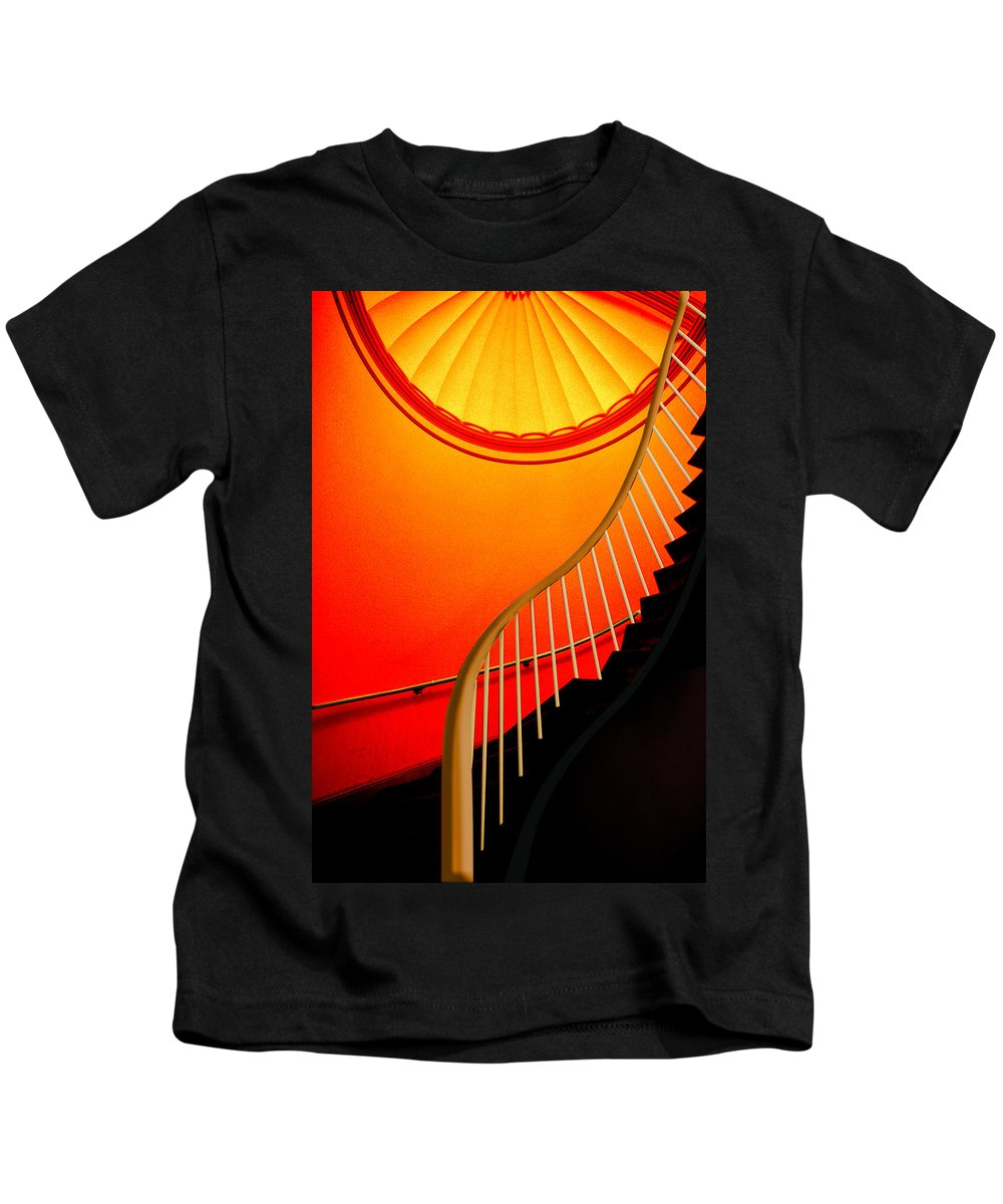 Capital Kids T-Shirt featuring the photograph Capital Stairs by Paul Wear