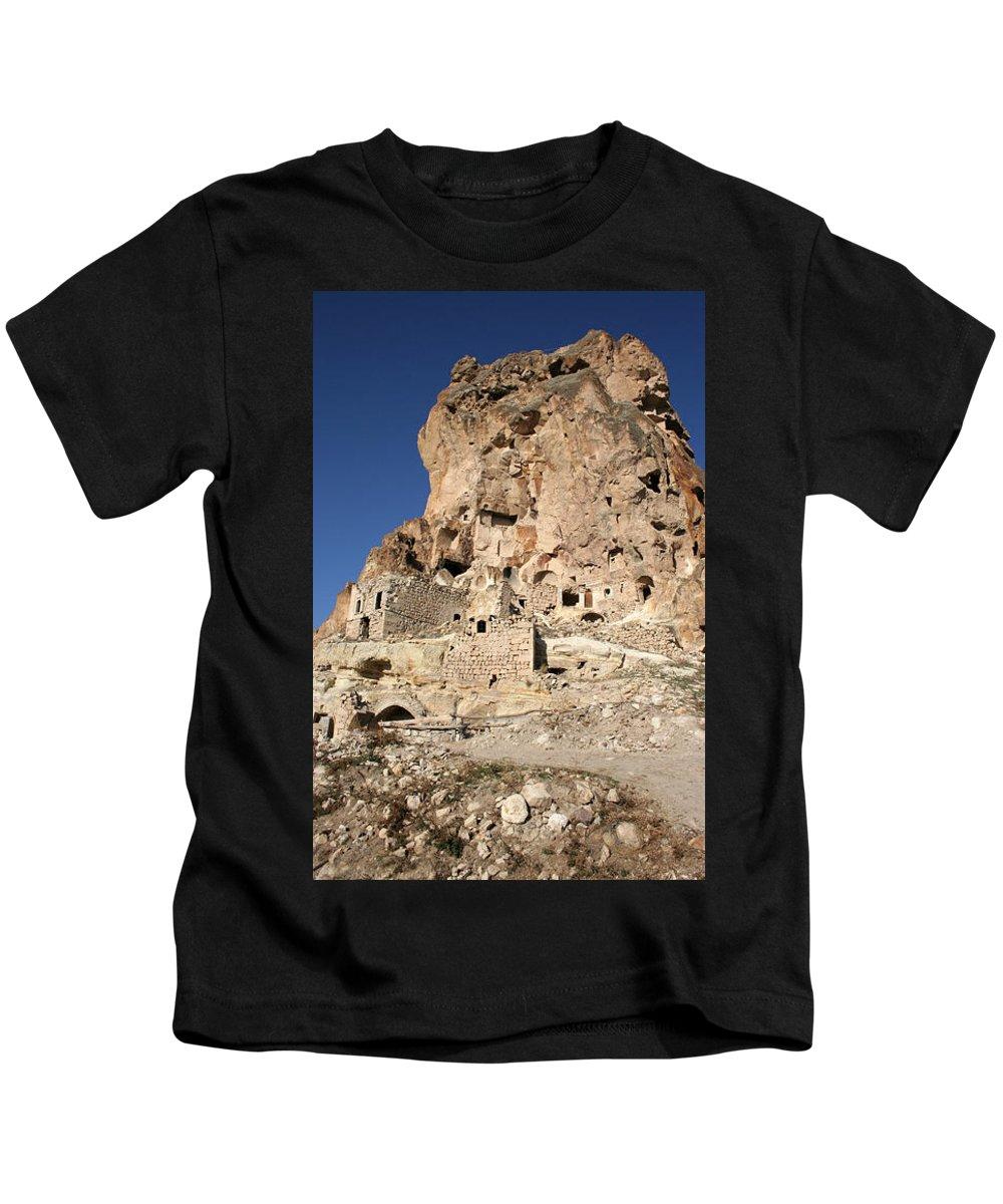 Kids T-Shirt featuring the photograph Cappadocia10 by Yesim Tetik