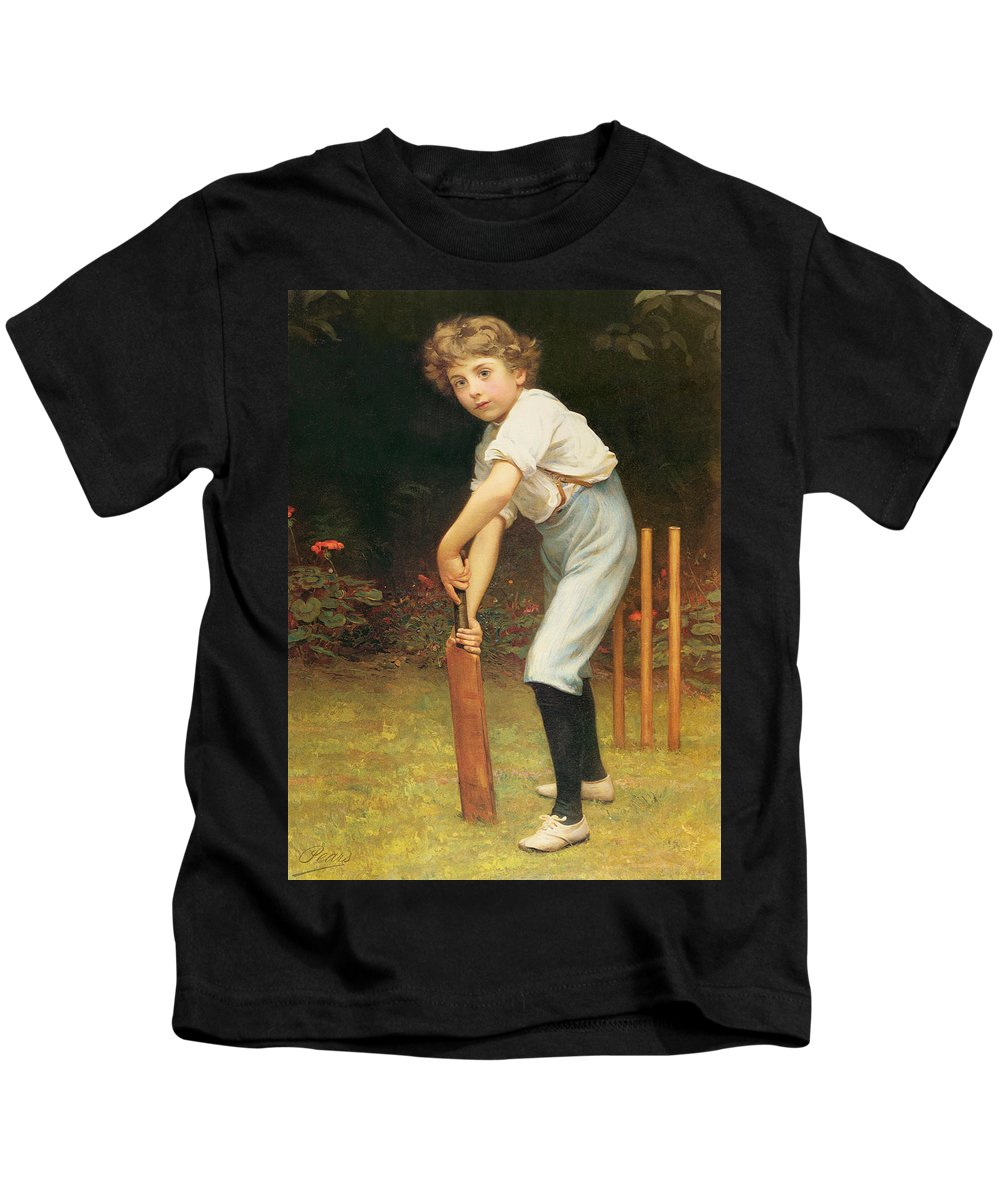 Captain Kids T-Shirt featuring the painting Captain Of The Eleven by Philip Hermogenes Calderon