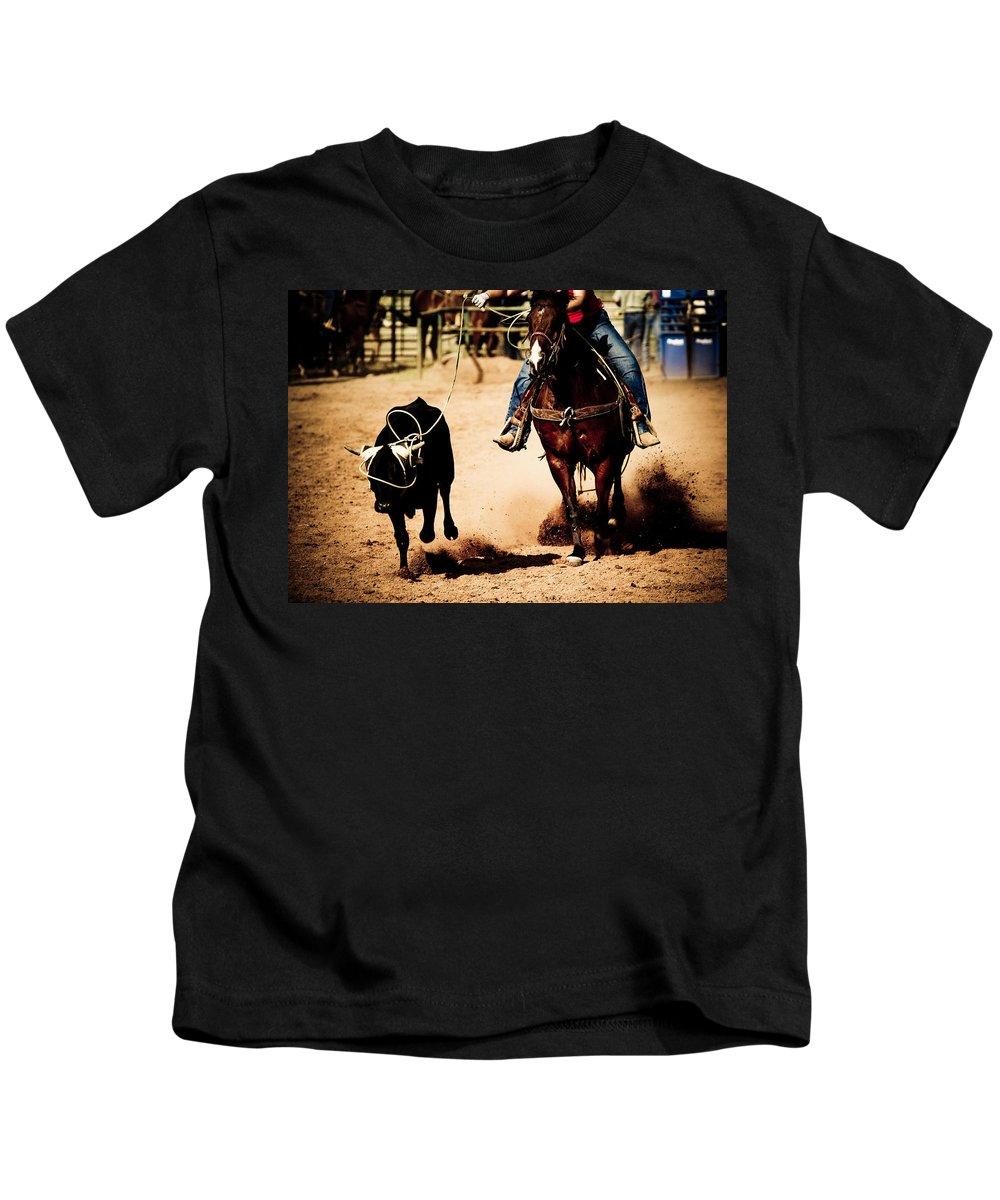 Western Kids T-Shirt featuring the photograph Capture by Scott Sawyer