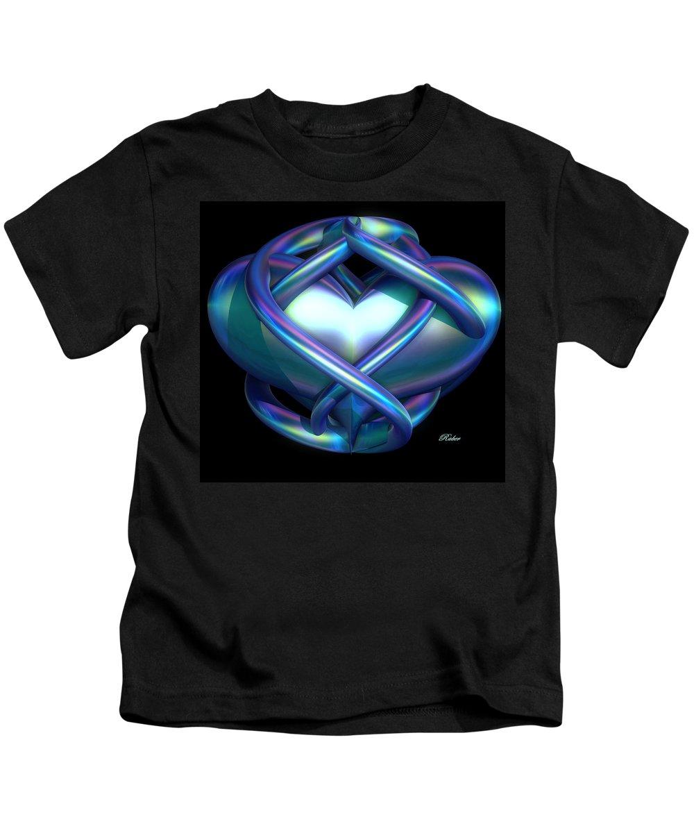 Heart Kids T-Shirt featuring the digital art Captured Heart by Sara Raber