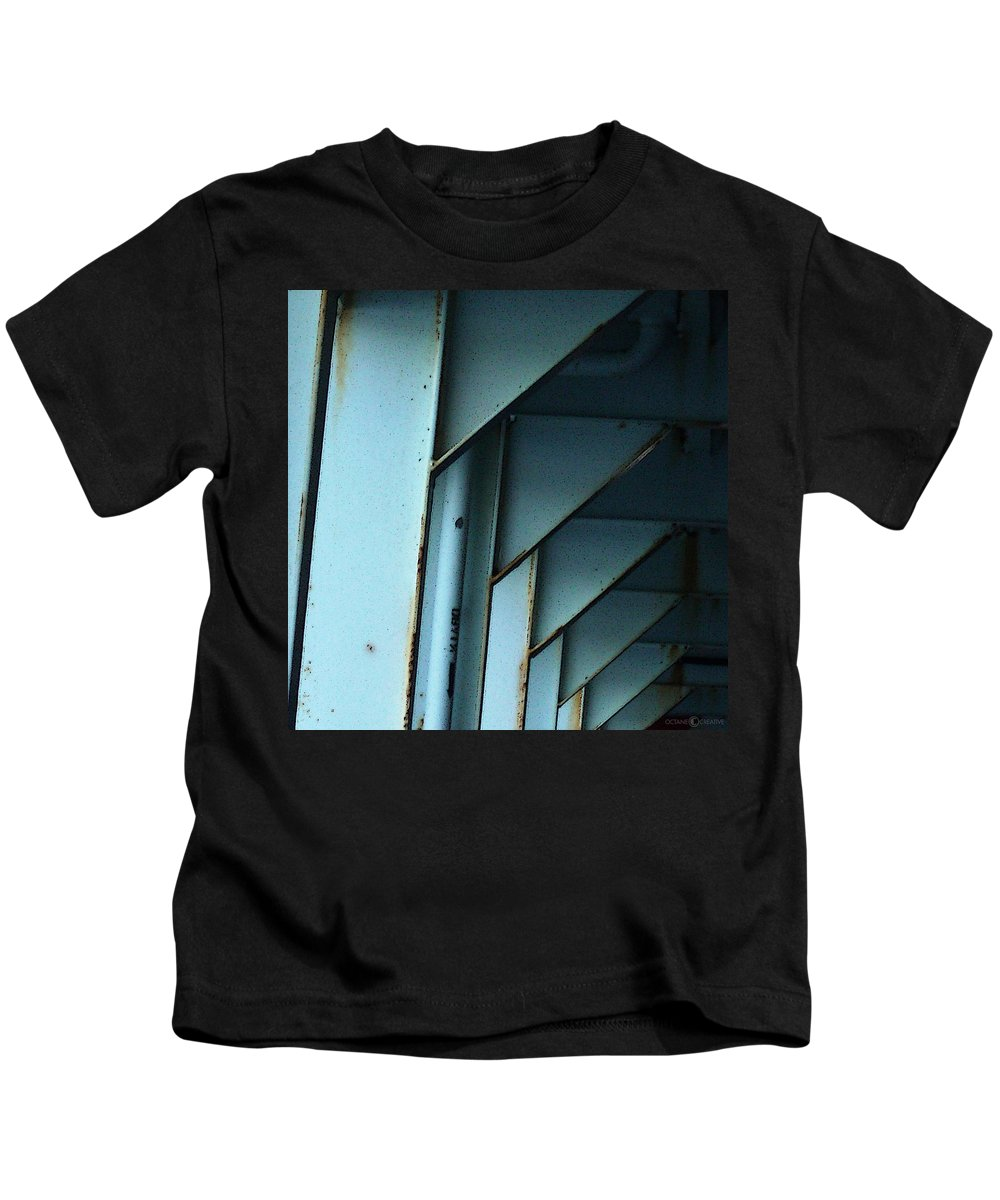 Ferry Kids T-Shirt featuring the photograph Car Ferry by Tim Nyberg