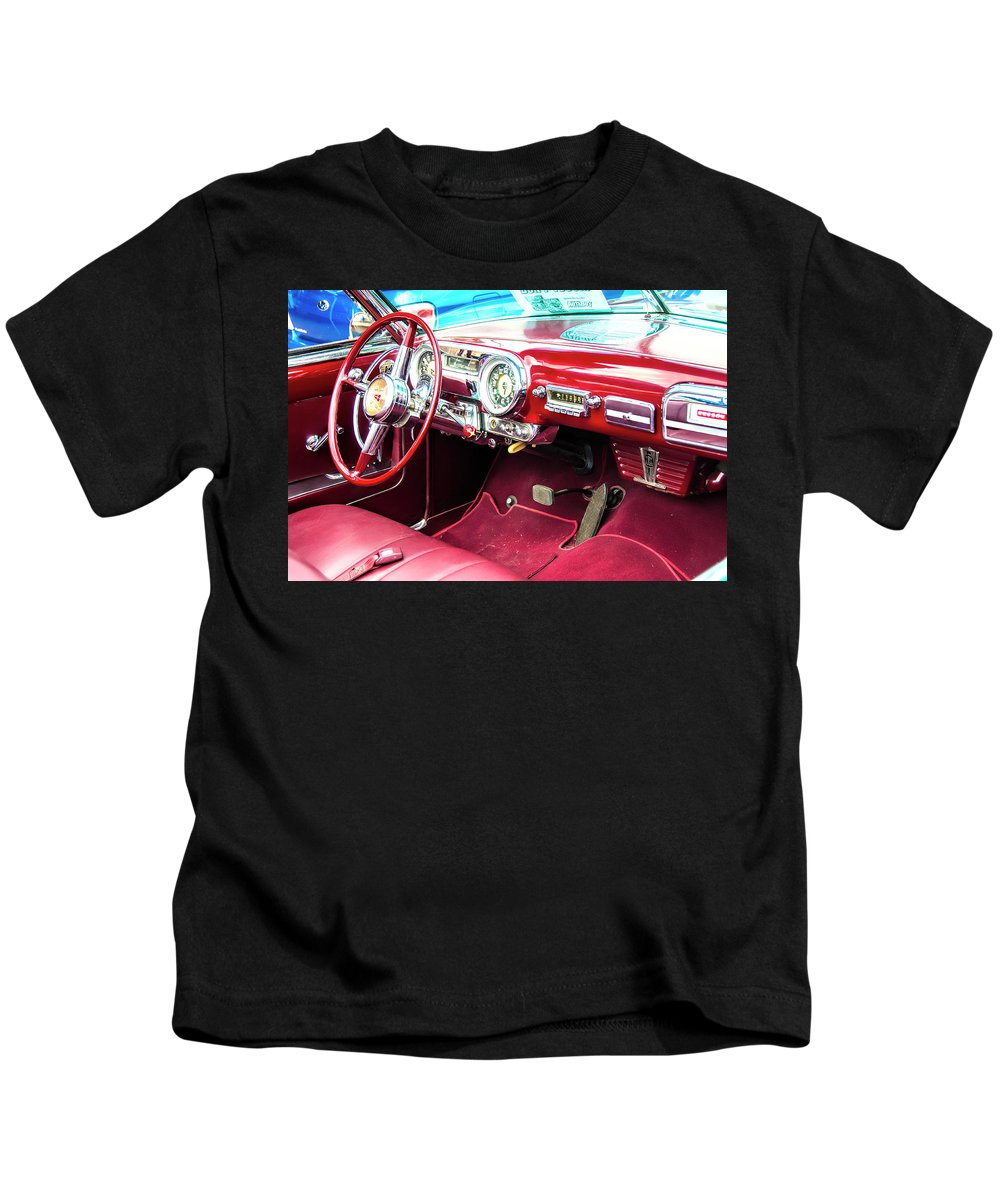 Cars Kids T-Shirt featuring the digital art Car Show 17 by Robert Walker