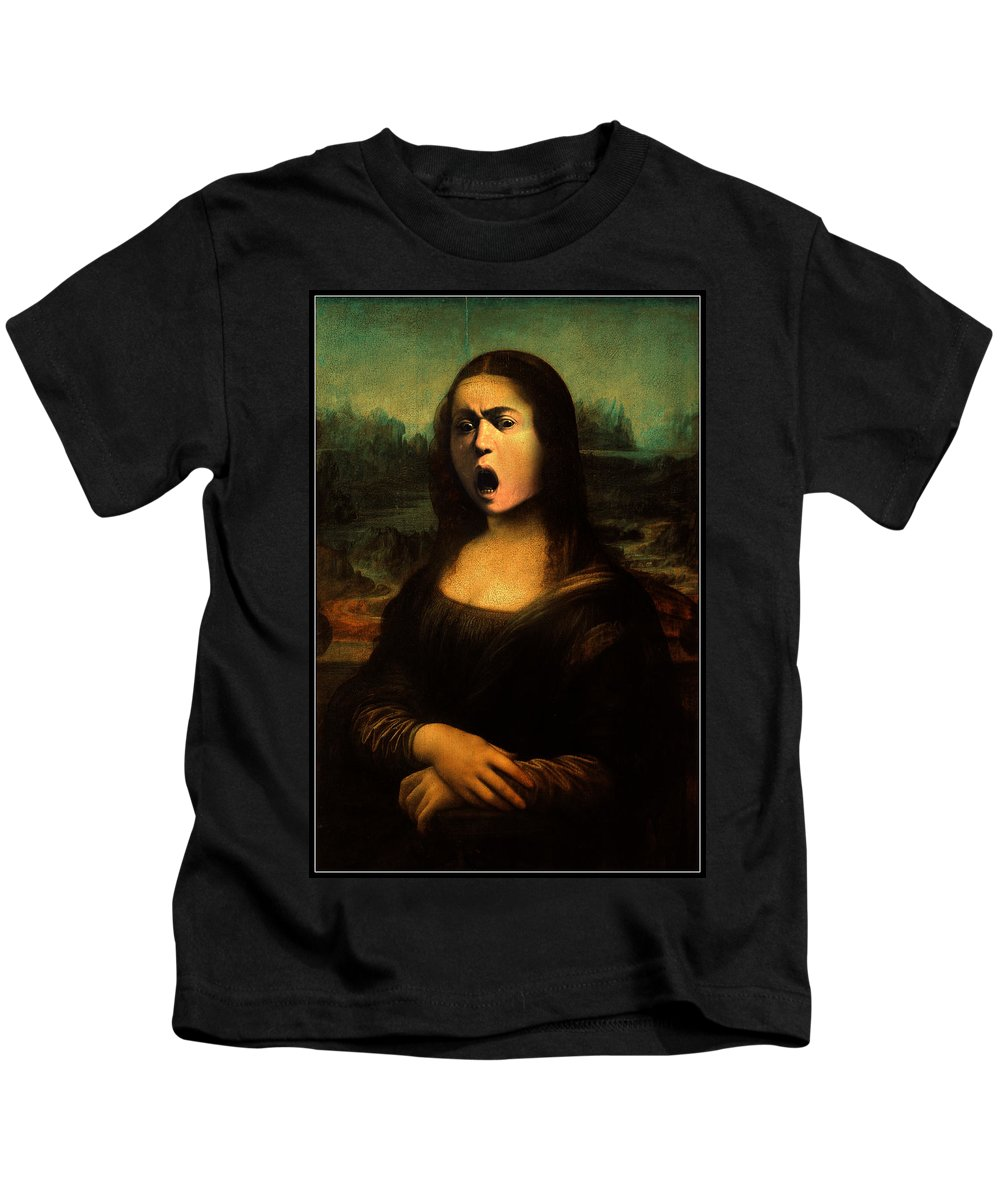 Caravaggio Kids T-Shirt featuring the painting Caravaggio's Mona by Gravityx9 Designs