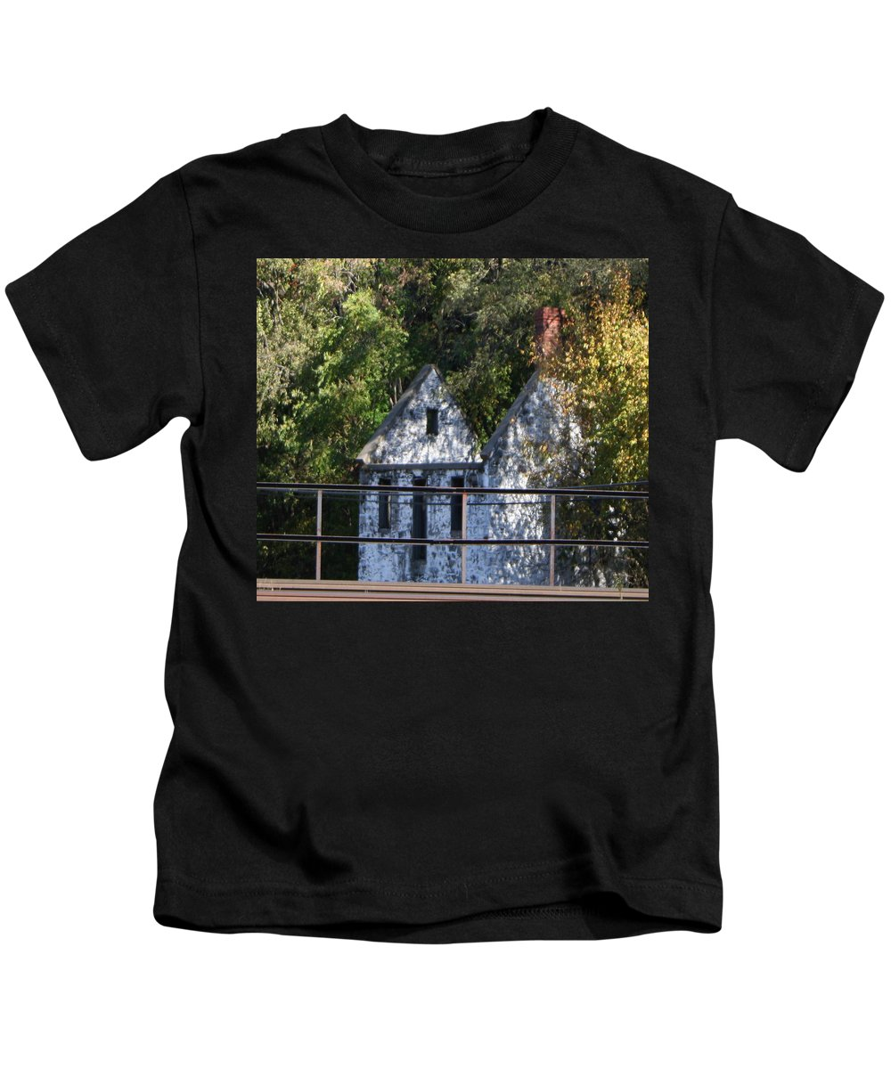 Stone House Kids T-Shirt featuring the photograph Caretakers House by Rebecca Smith