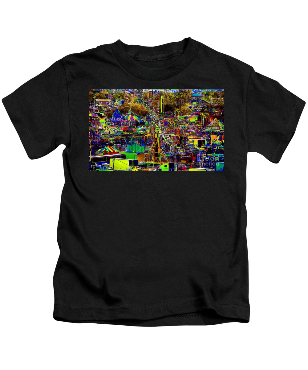 Carnival Kids T-Shirt featuring the painting Carnival by David Lee Thompson