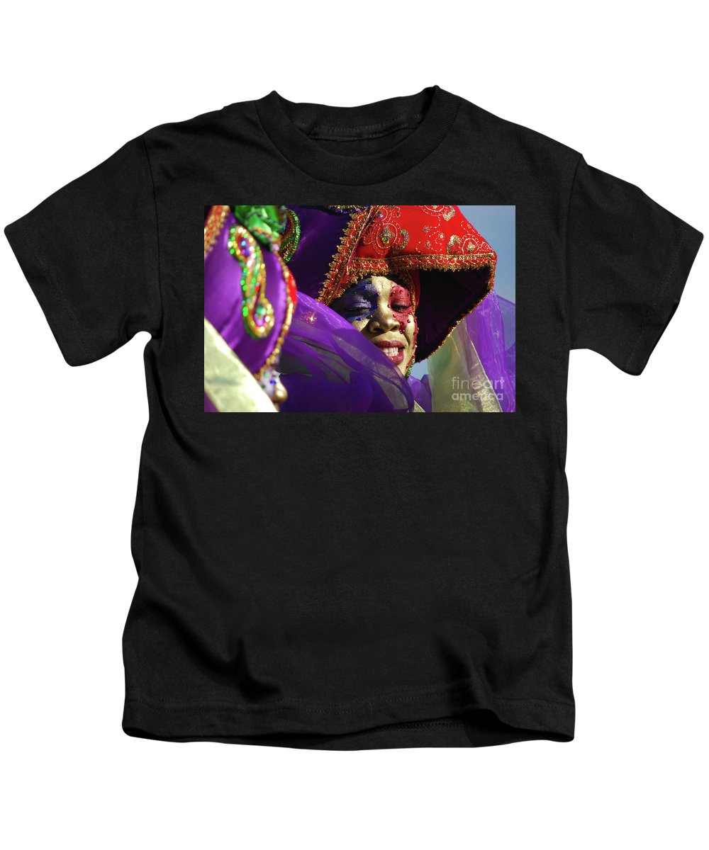 Kids T-Shirt featuring the photograph Carnival Personified by Heather Kirk