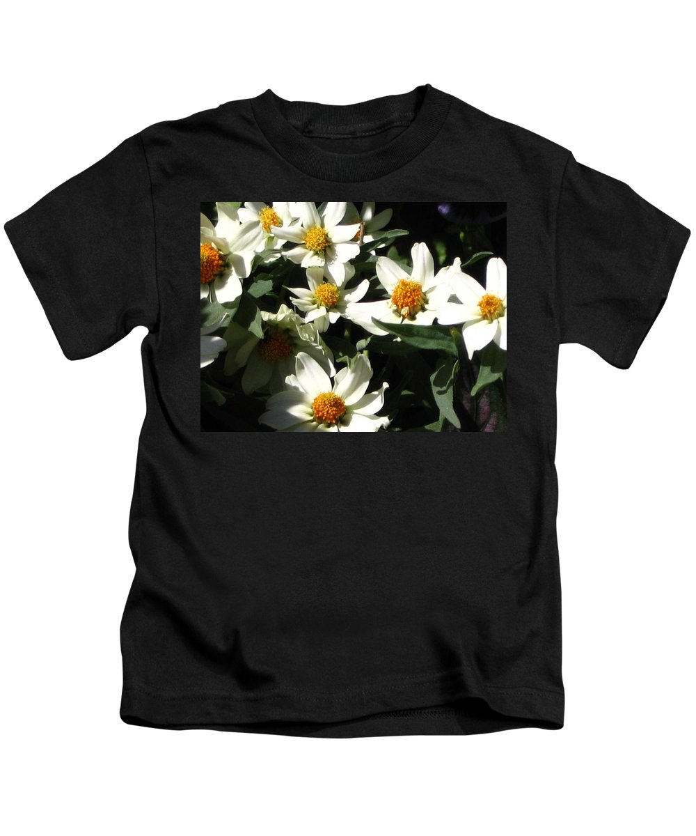 Floral Kids T-Shirt featuring the photograph Cascade Of White Flowers by Line Gagne