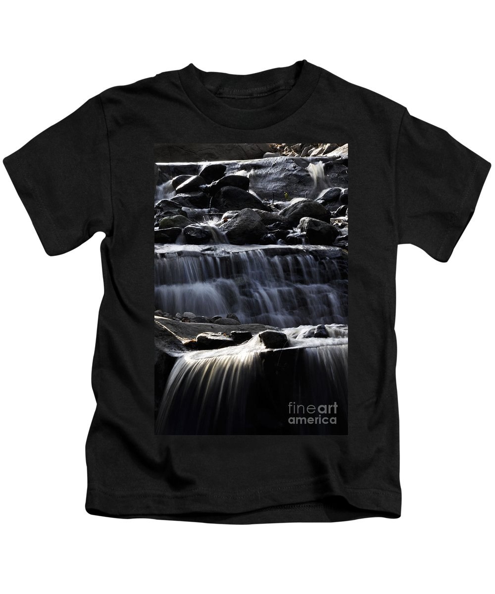 Clay Kids T-Shirt featuring the photograph Cascading Falls by Clayton Bruster