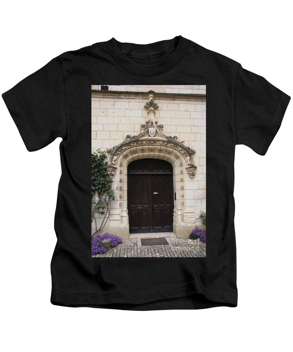 Door Kids T-Shirt featuring the photograph Castle Entrance Door by Christiane Schulze Art And Photography