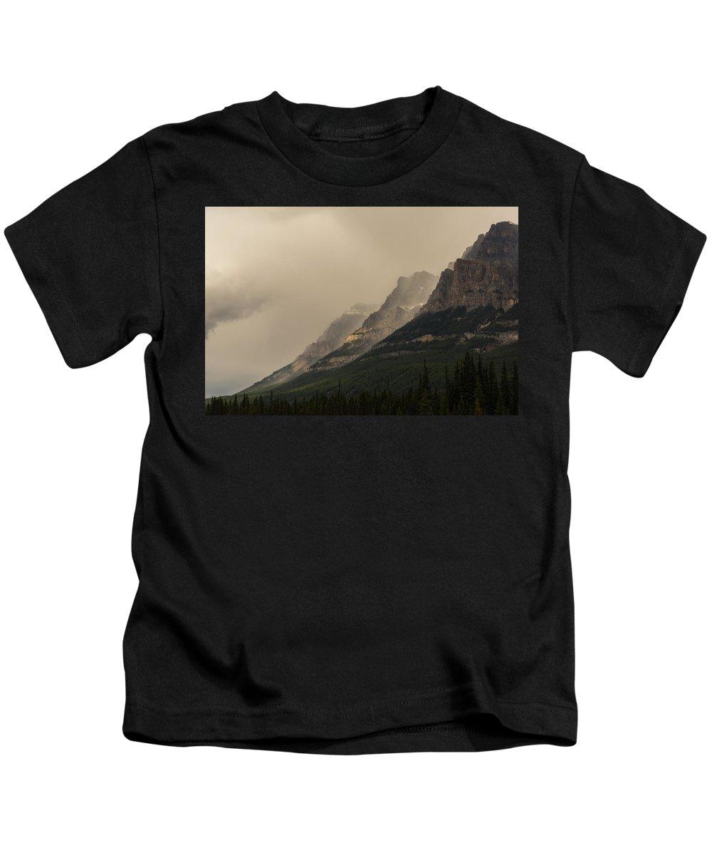 Castle Mountain Kids T-Shirt featuring the photograph Castle Mountain by Alex Lapidus