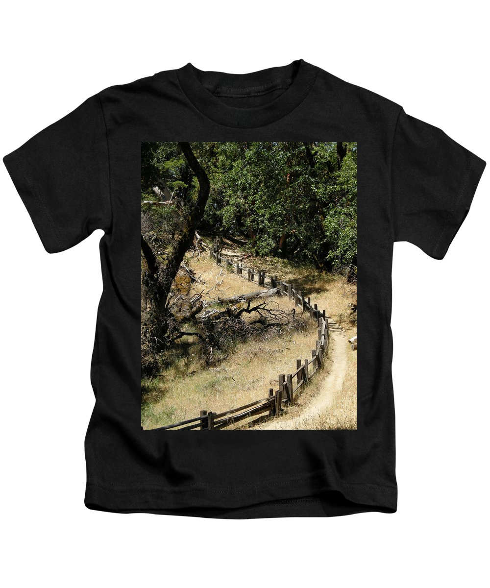Landscapes Kids T-Shirt featuring the photograph Castle Rock Sp by Karen W Meyer