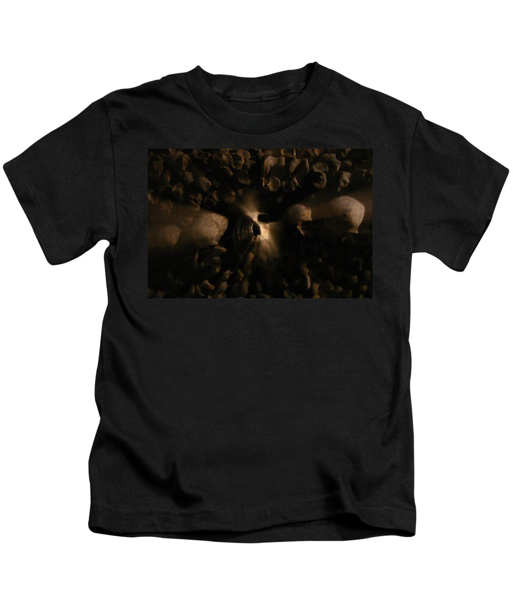 Kids T-Shirt featuring the photograph Catacombs - Paria France 3 by Jennifer McDuffie