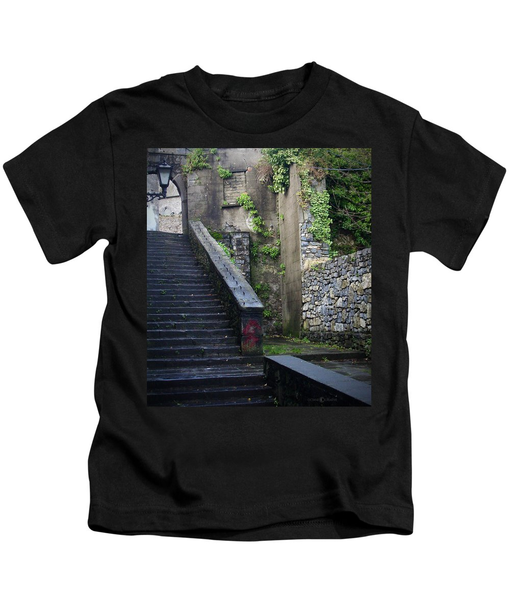 Stairs Kids T-Shirt featuring the photograph Cathedral Stairs by Tim Nyberg