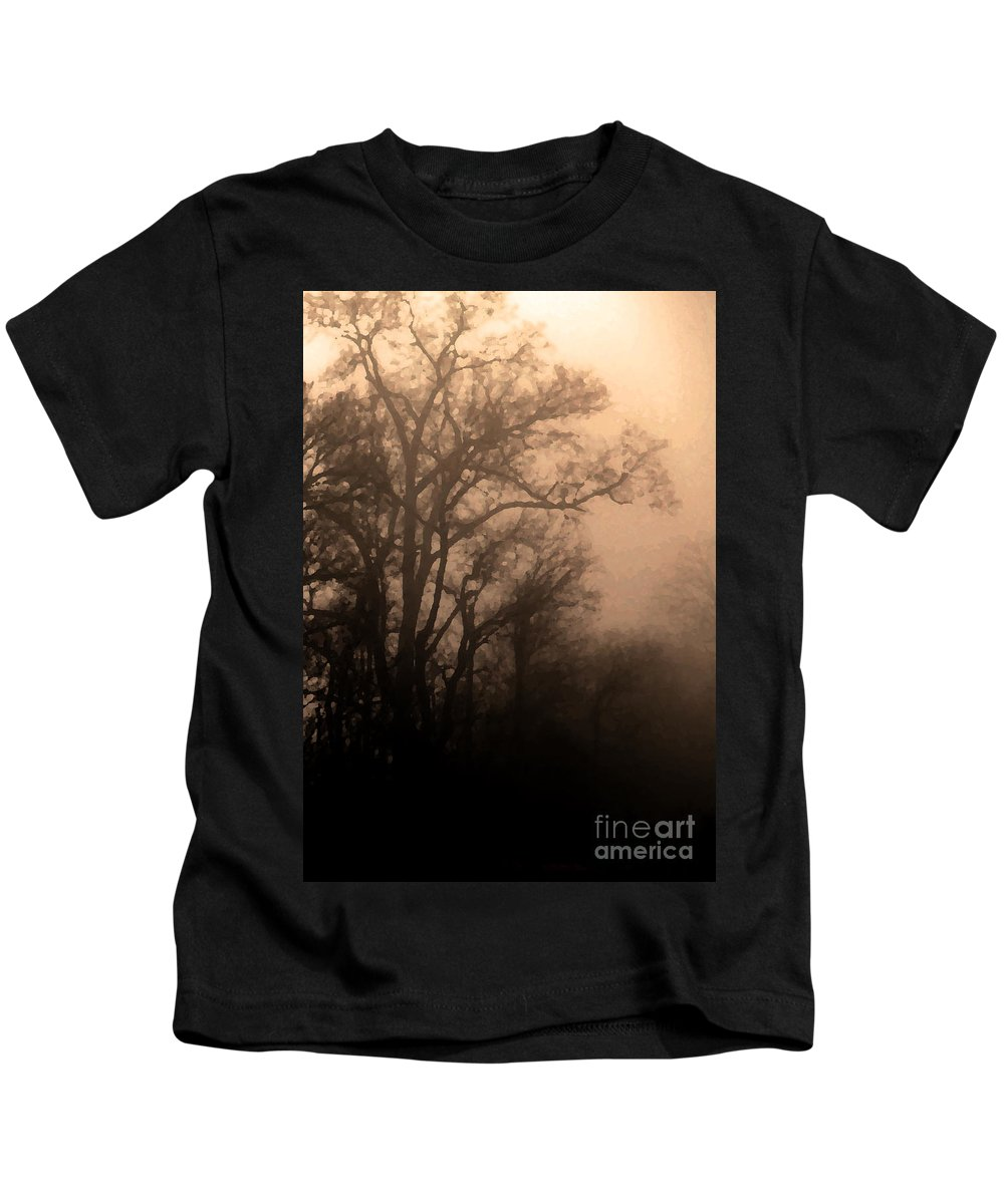 Soft Kids T-Shirt featuring the photograph Caught Between Light And Dark by Amanda Barcon