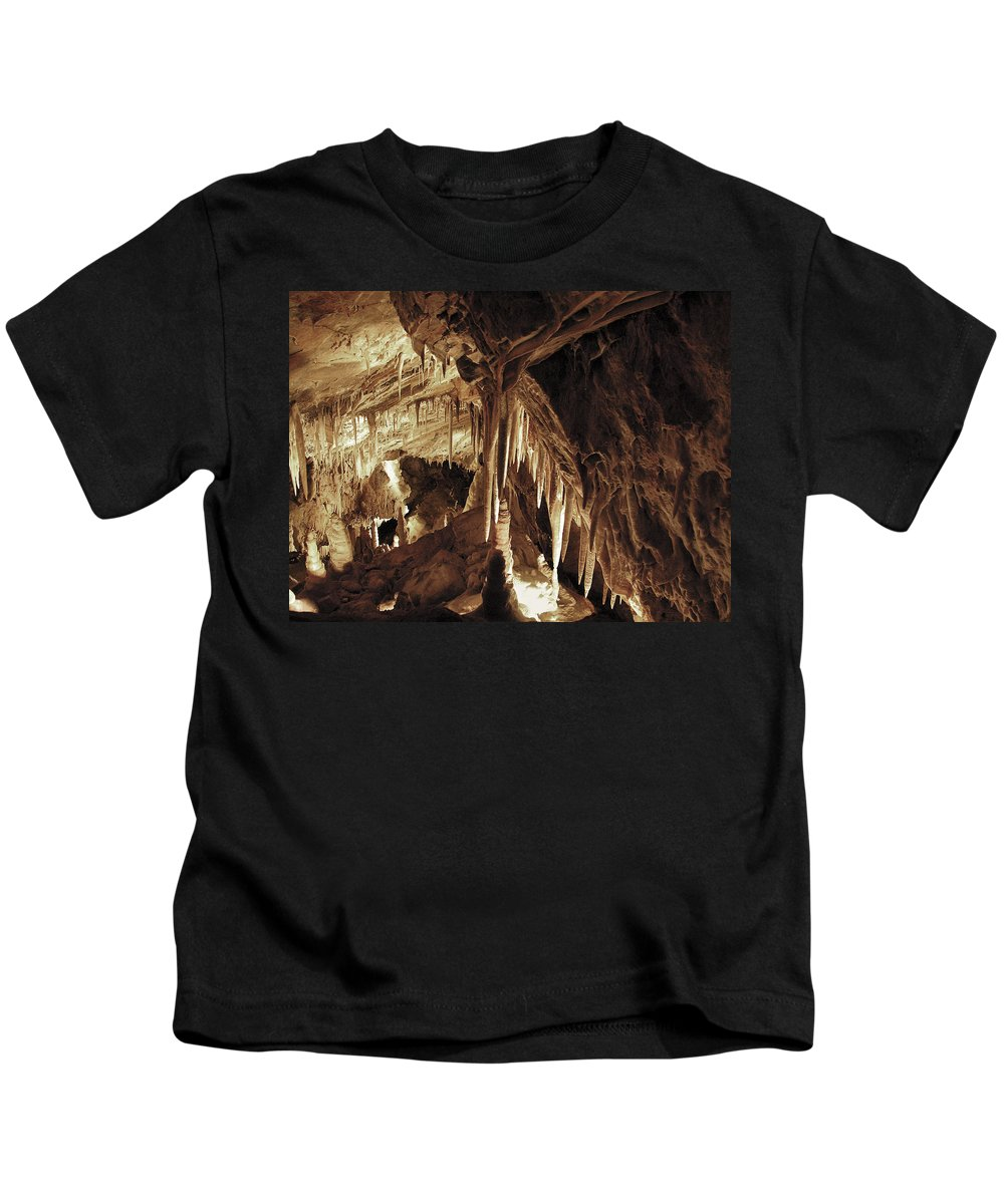 Cave Kids T-Shirt featuring the photograph Cave Interior by Marilyn Hunt