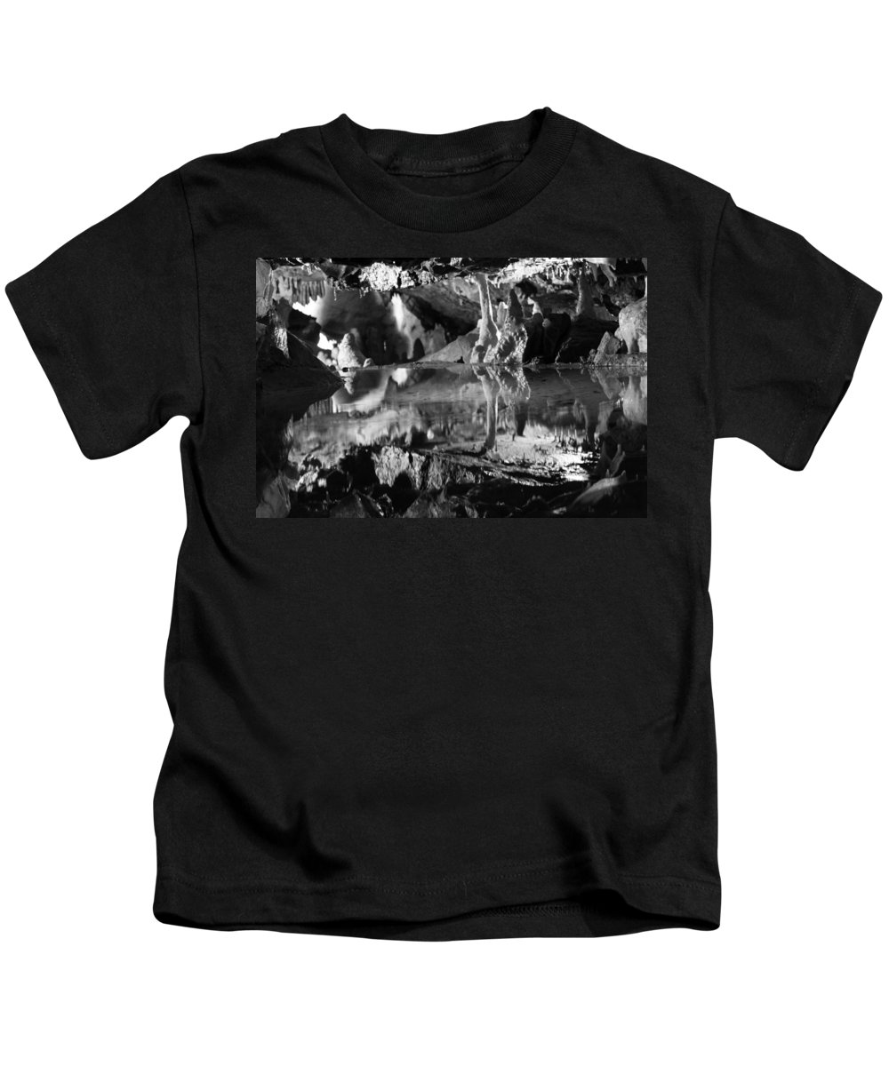 Cave Kids T-Shirt featuring the photograph Cave Reflection 2 by Lauri Novak