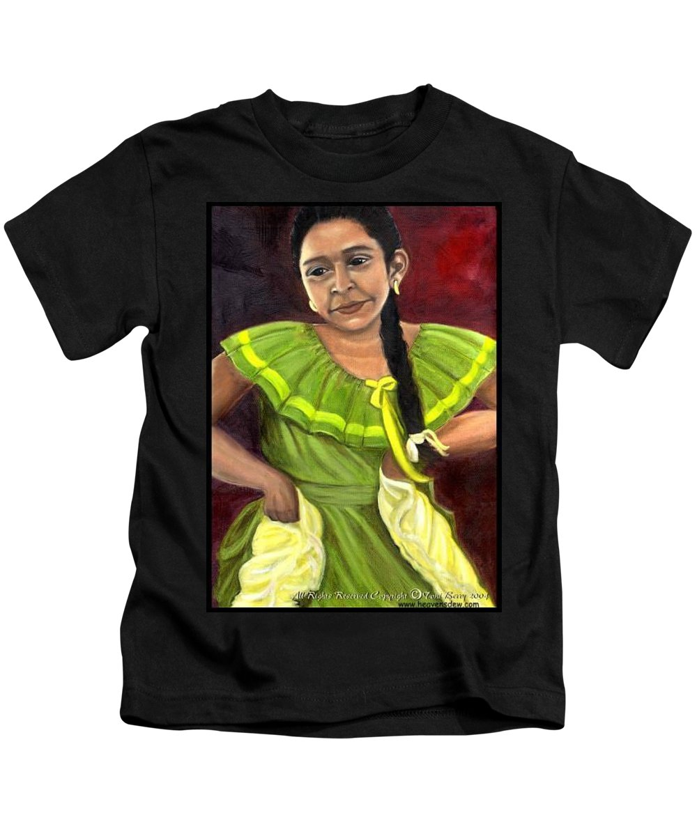 Kids T-Shirt featuring the painting Cecelia by Toni Berry