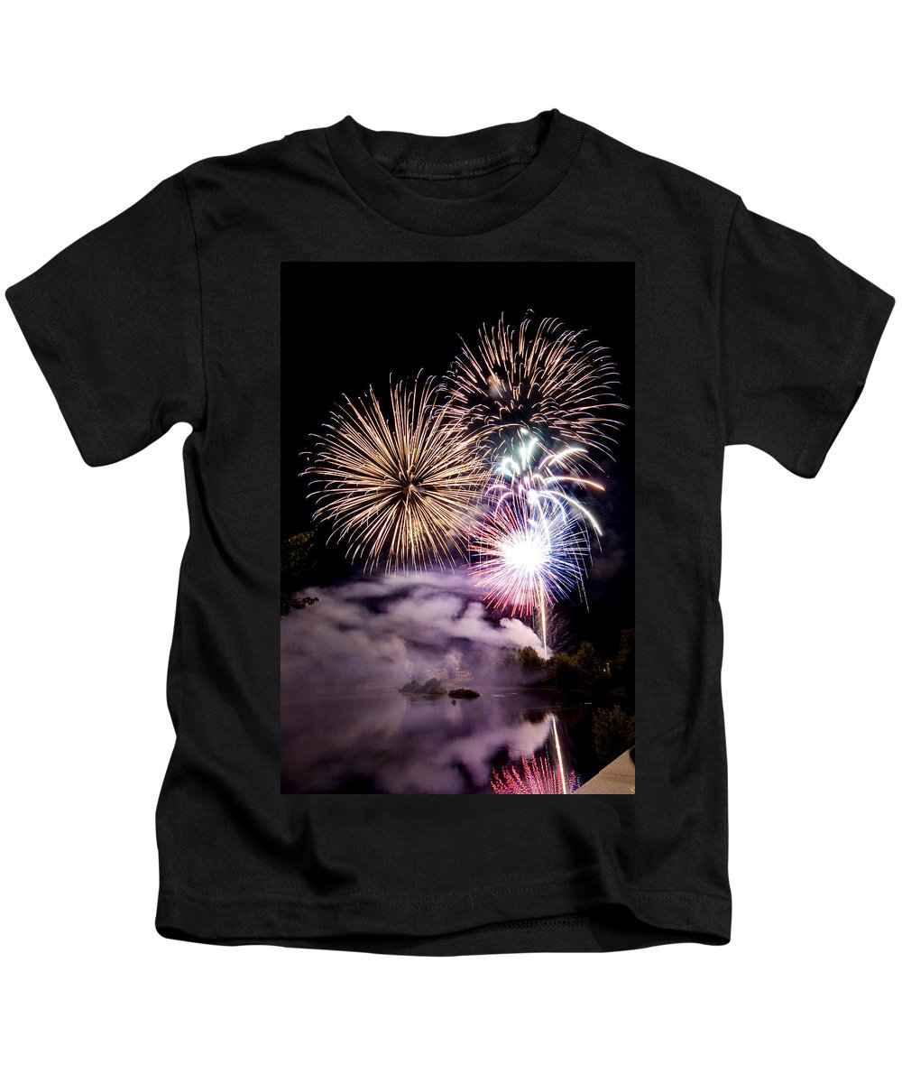Fireworks Kids T-Shirt featuring the photograph Celebration by Greg Fortier