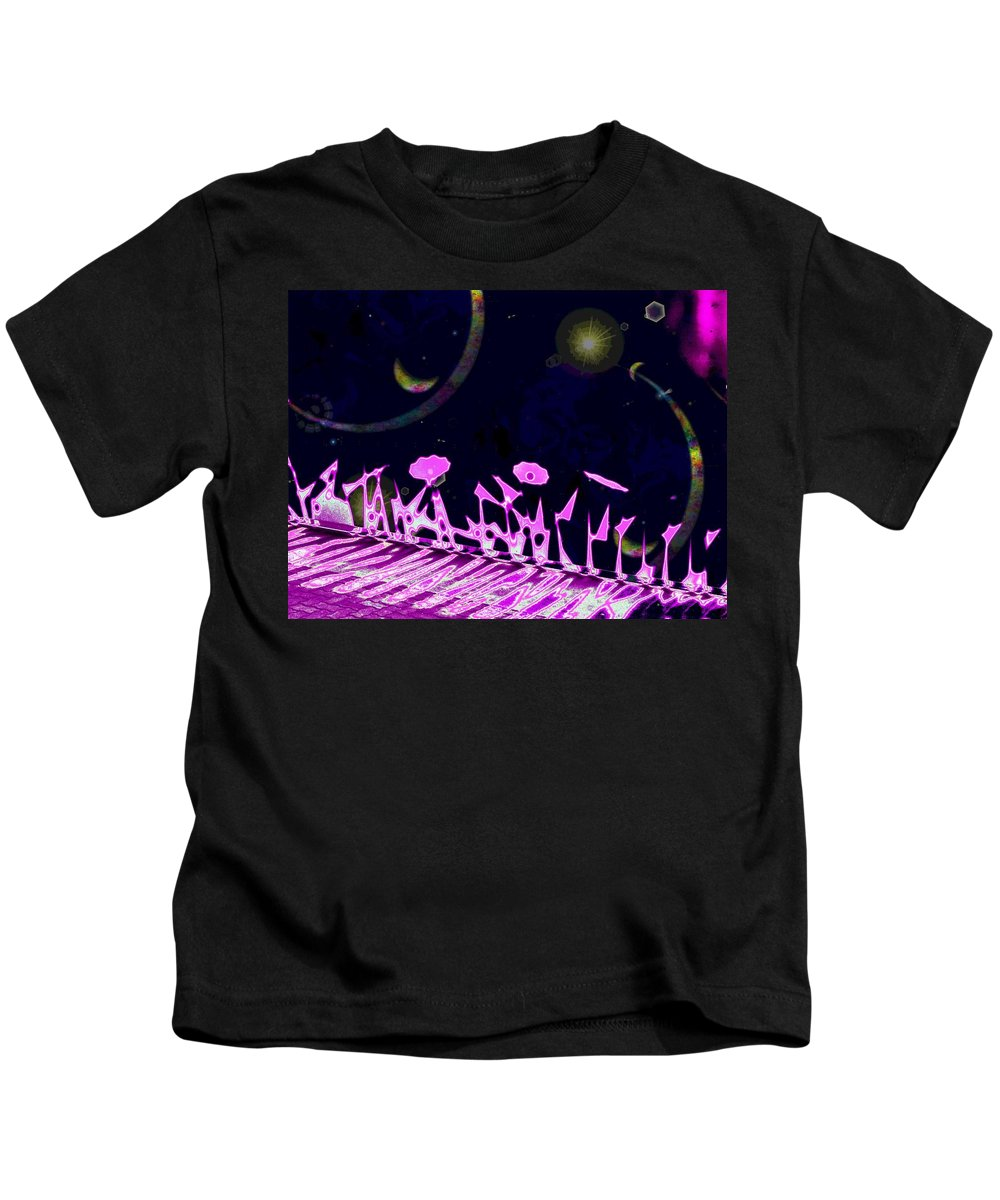 Garden Kids T-Shirt featuring the digital art Celestial Garden by Tim Allen