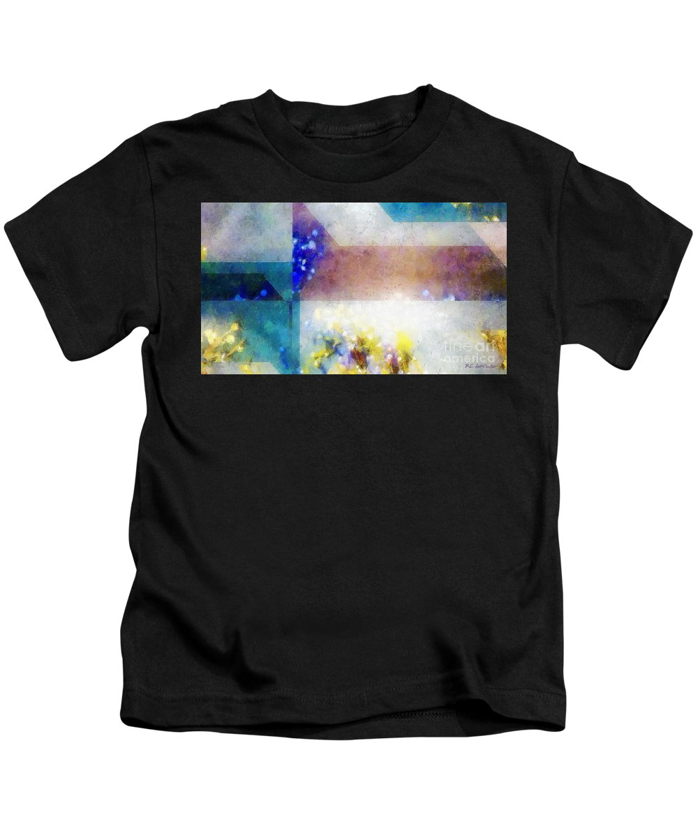 Abstract Kids T-Shirt featuring the painting Celestial Navigation by RC DeWinter