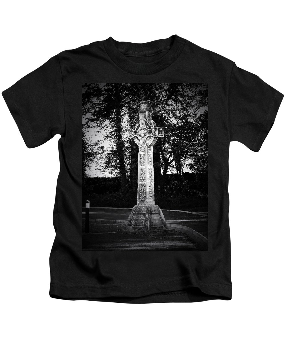 Irish Kids T-Shirt featuring the photograph Celtic Cross In Killarney Ireland by Teresa Mucha