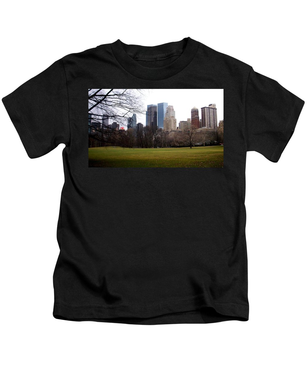 Central Park Kids T-Shirt featuring the photograph Central Park by Anita Burgermeister