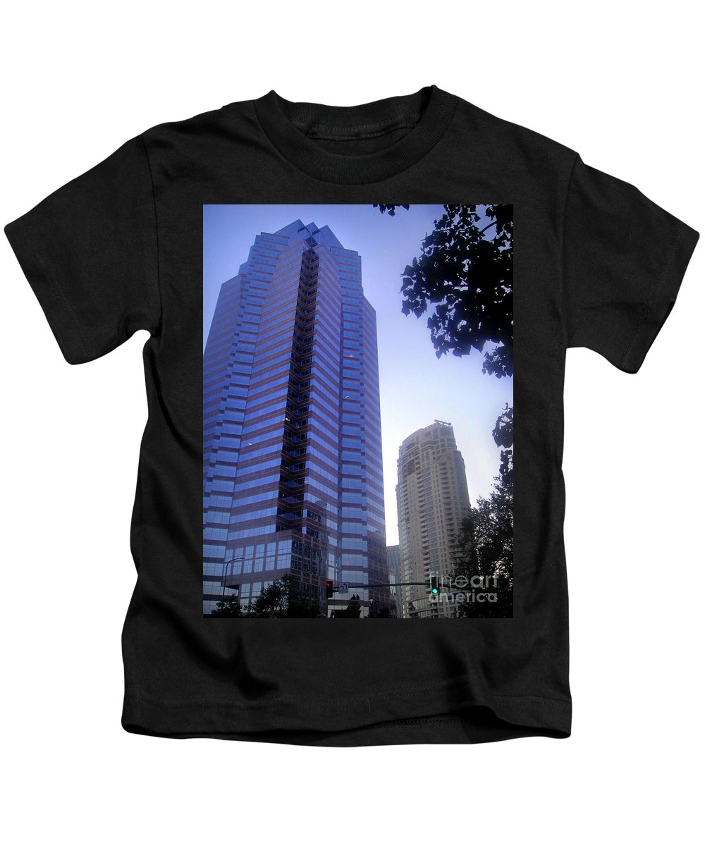 Century City Kids T-Shirt featuring the photograph Century City. Galaxy Way by Sofia Metal Queen