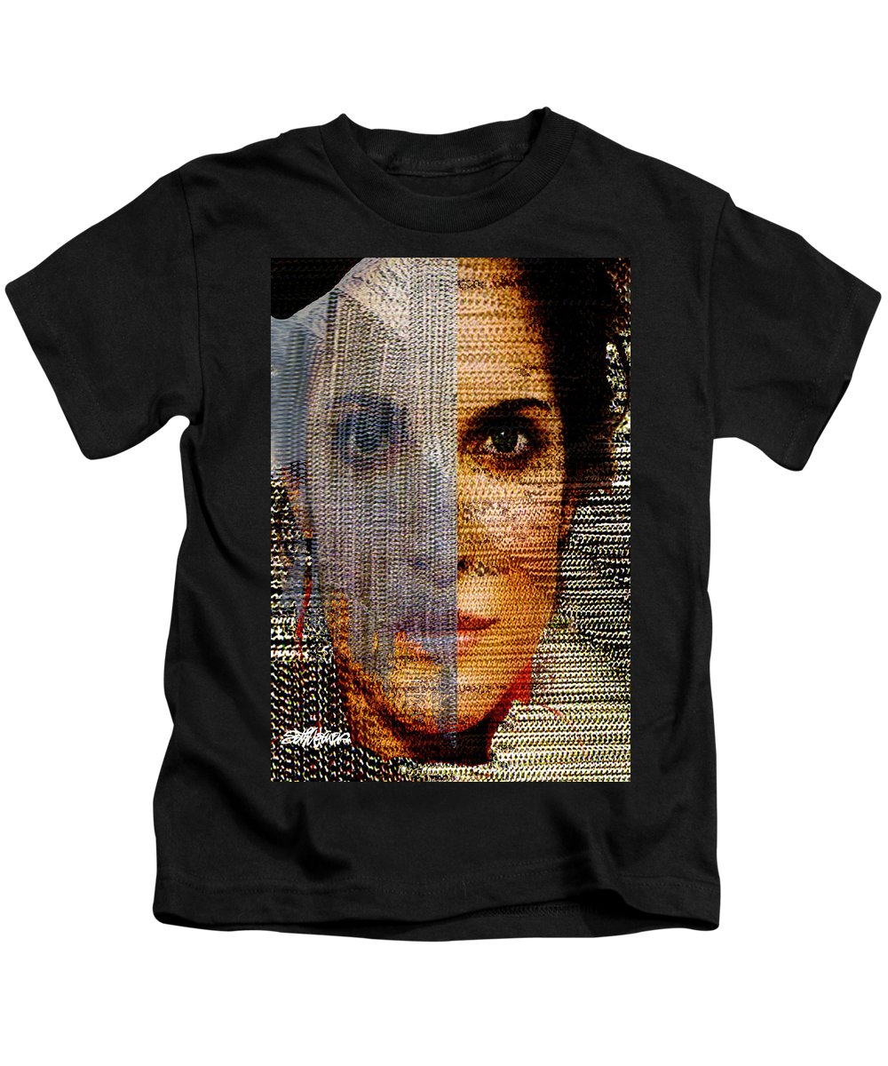 Mysterious Kids T-Shirt featuring the digital art Chained Vixen by Seth Weaver