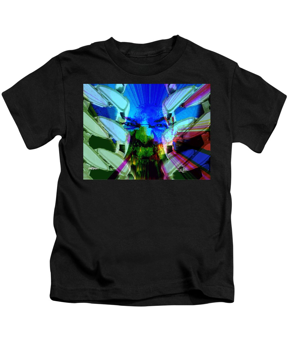 Terrorism Kids T-Shirt featuring the digital art Chains Of Terror by Seth Weaver