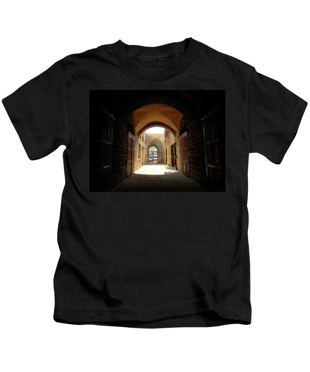 Marwan Kids T-Shirt featuring the photograph Chaos Beyond The Gate by Marwan George Khoury
