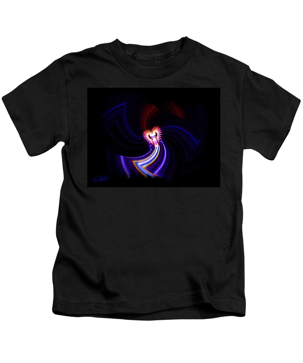 Chaos Kids T-Shirt featuring the painting Chaos Dance by Charles Stuart
