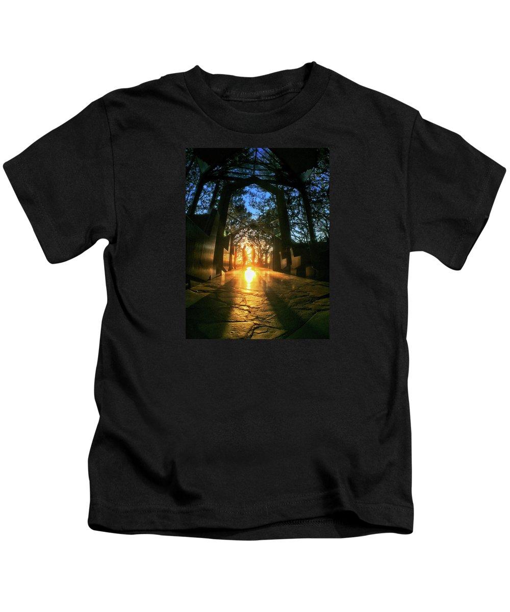 California Kids T-Shirt featuring the photograph Chapel Sunset by Braden Moran