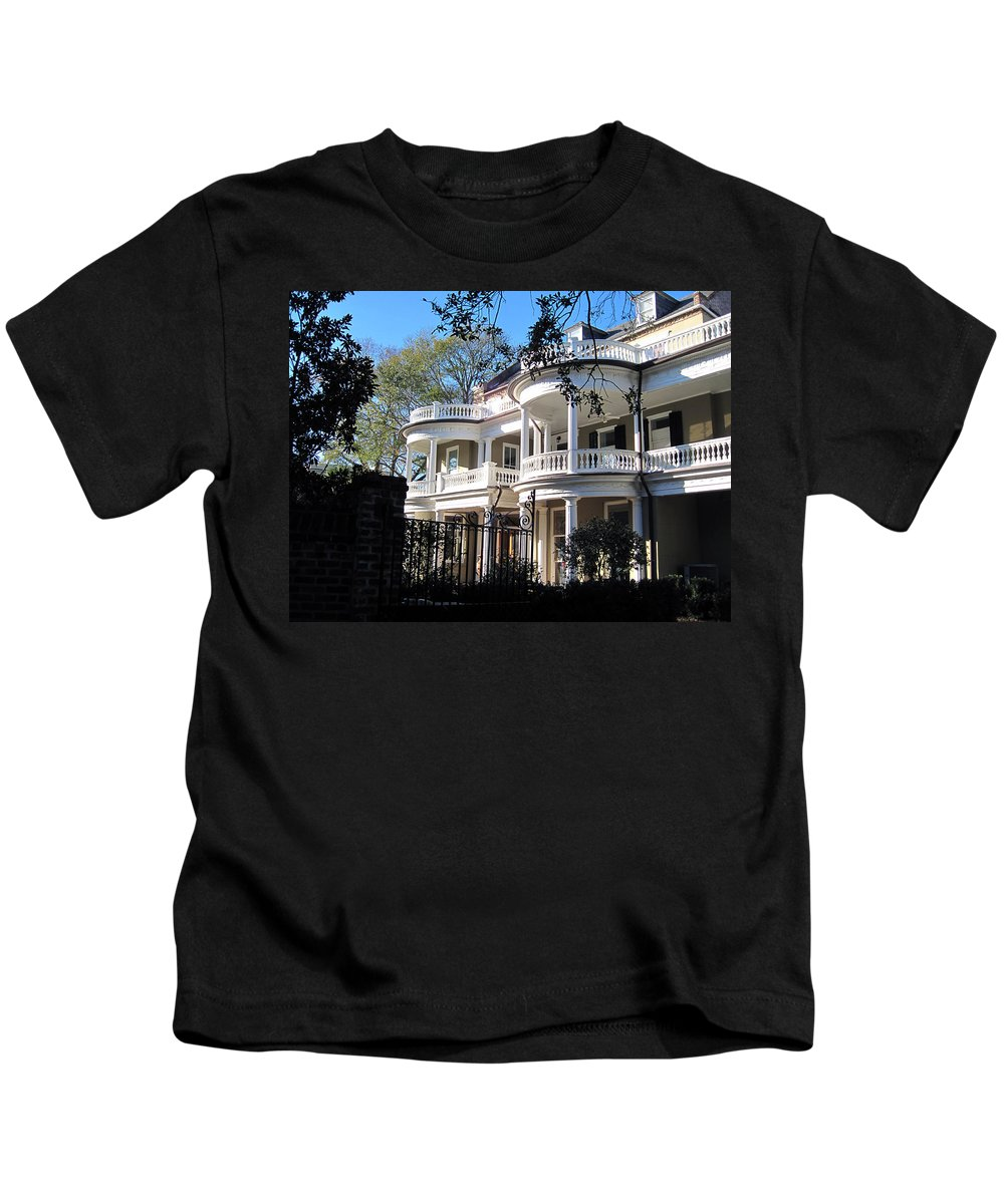 Photography Kids T-Shirt featuring the photograph Charlestons Beautiful Architecure by Susanne Van Hulst