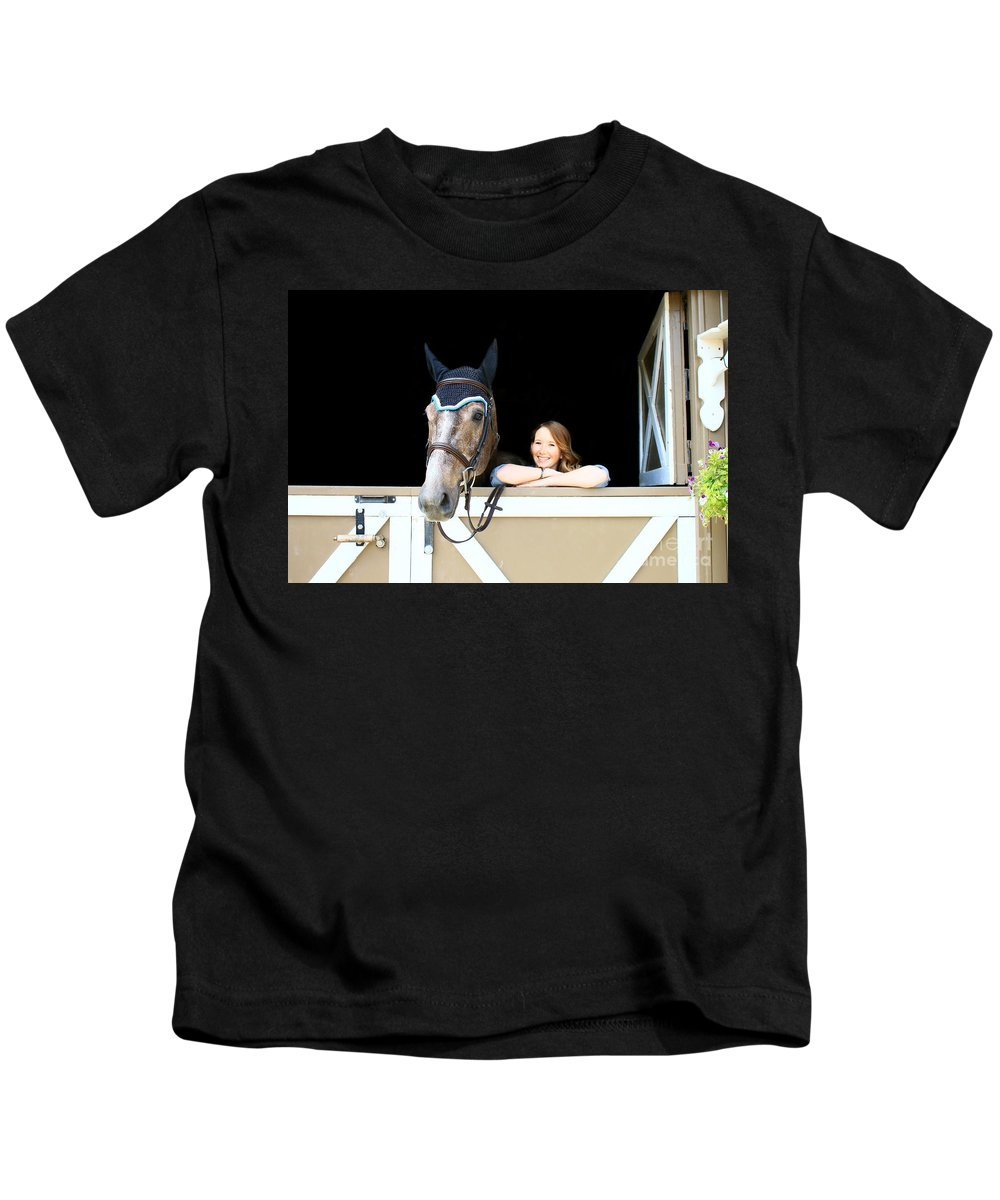 Kids T-Shirt featuring the photograph Charlotte-phil-2 by Life With Horses