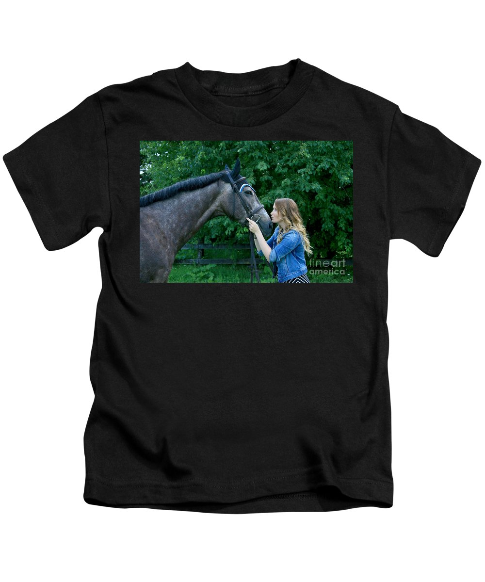 Kids T-Shirt featuring the photograph Charlotte-phil-22 by Life With Horses
