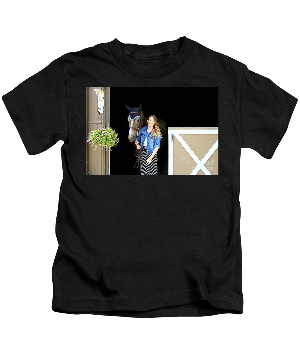 Kids T-Shirt featuring the photograph Charlotte-phil-3 by Life With Horses