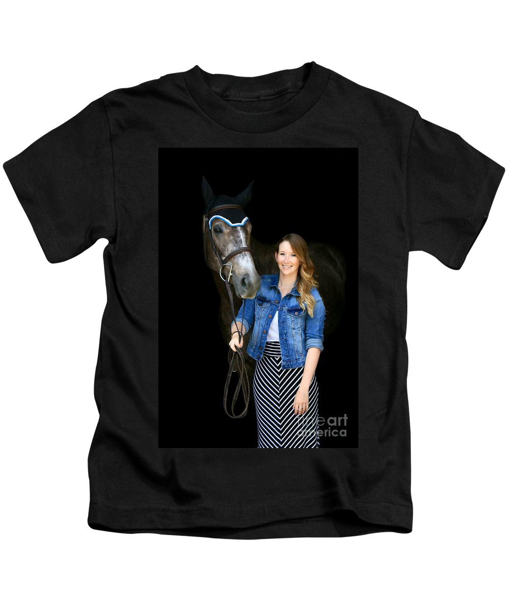 Kids T-Shirt featuring the photograph Charlotte-phil-4 by Life With Horses