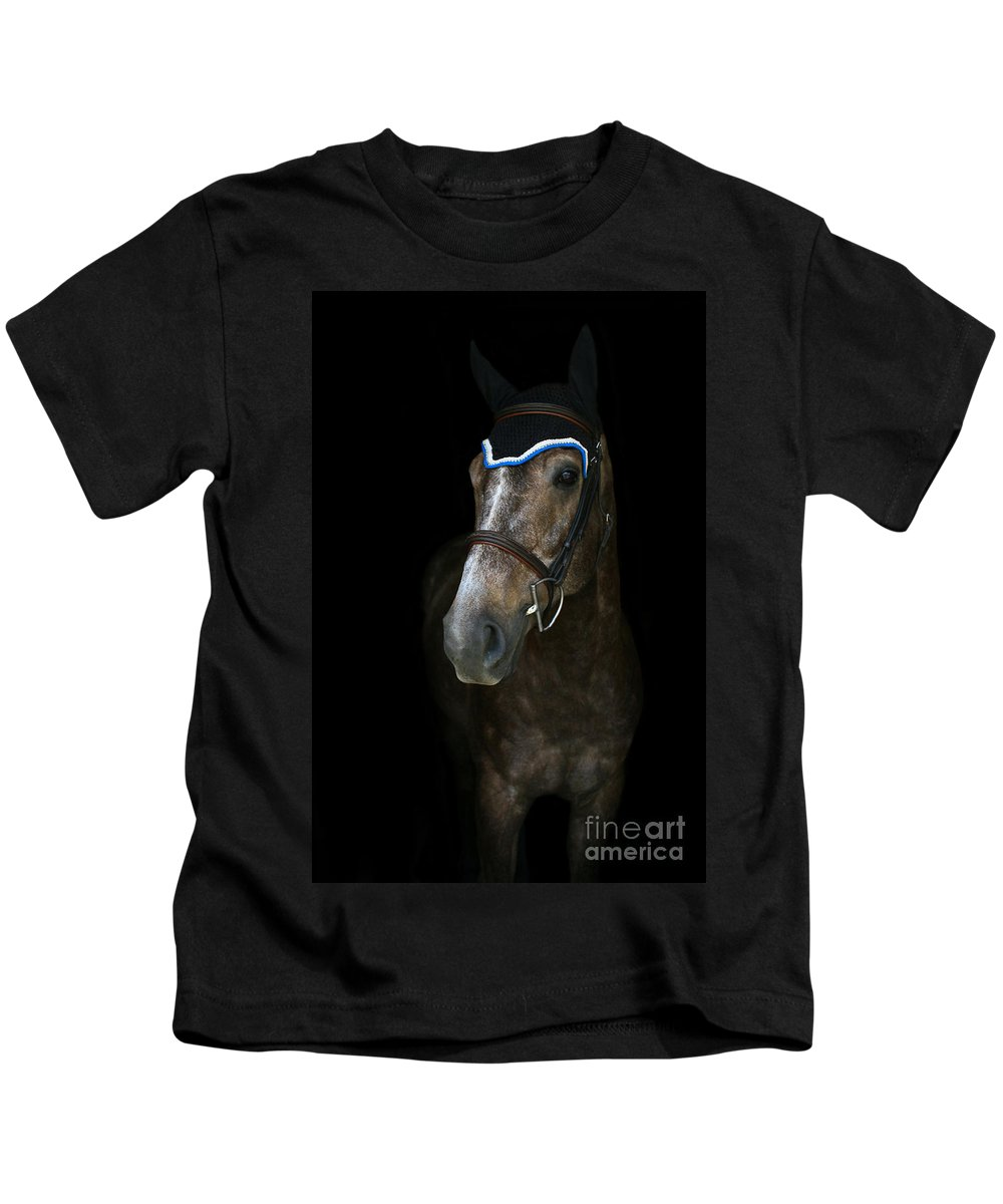Kids T-Shirt featuring the photograph Charlotte-phil-7 by Life With Horses