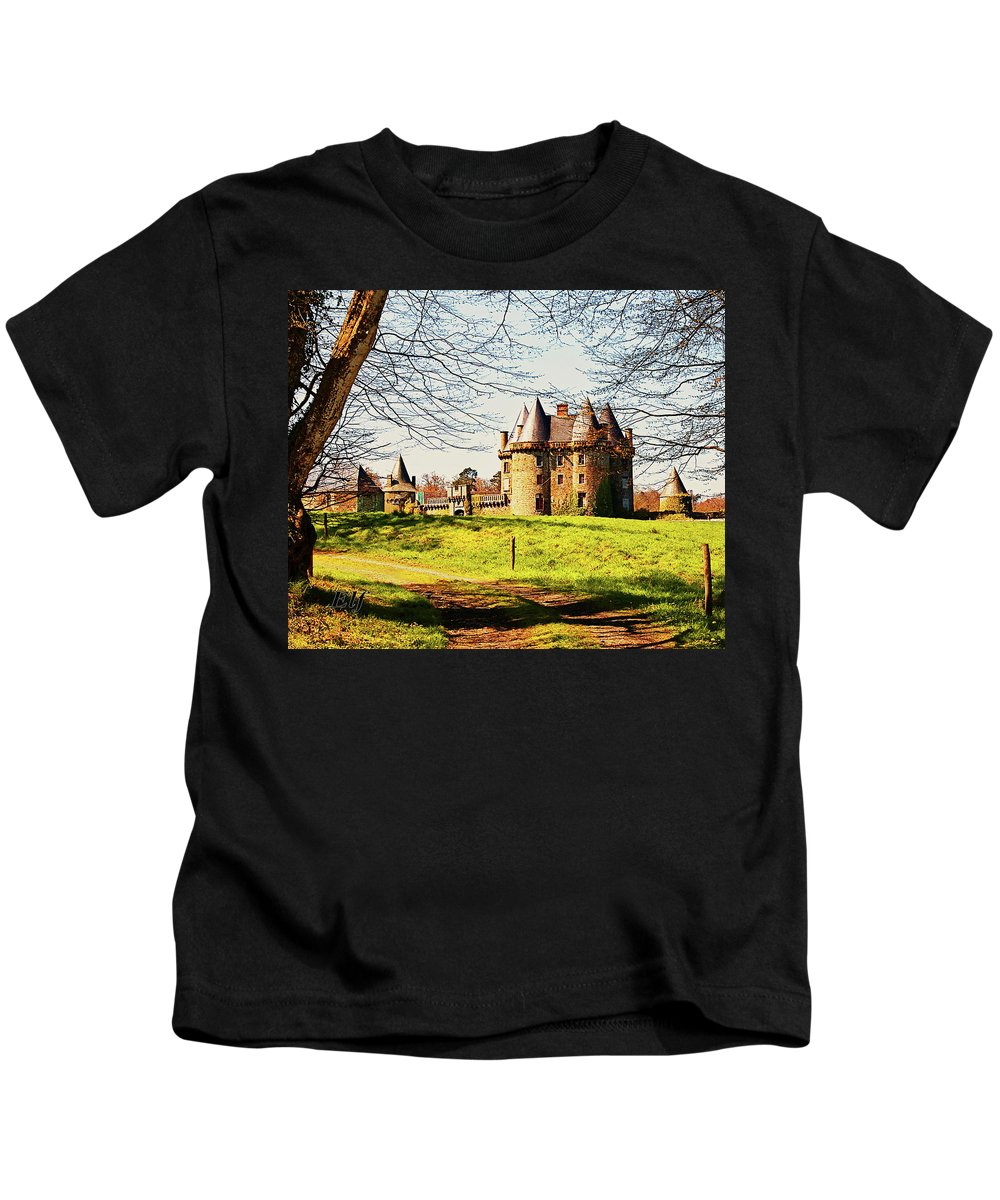 French Architecture Kids T-Shirt featuring the photograph Chateau De Landale by Elf Evans