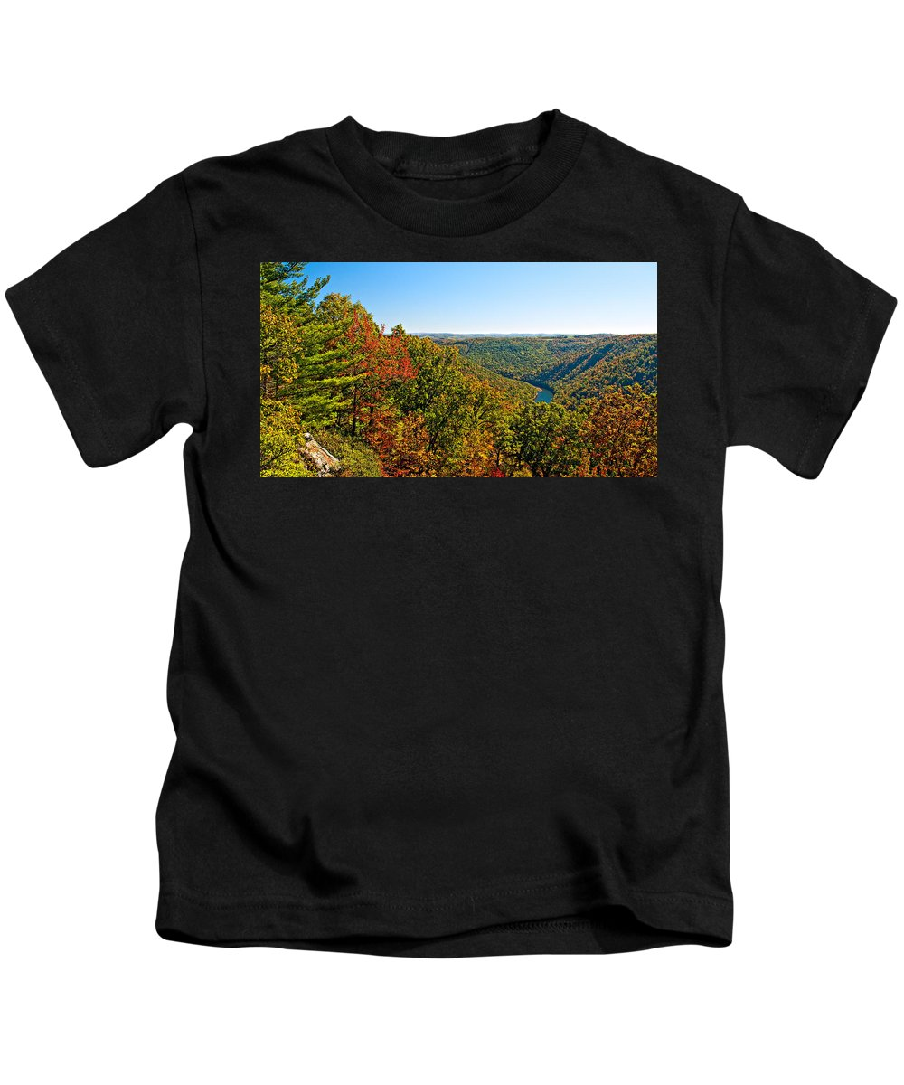 West Virginia Kids T-Shirt featuring the photograph Cheat River by Steve Harrington